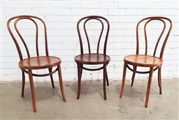 Sale 9126 - Lot 1284 - Set of 3 bentwood dining chairs (h:88 x d:41cm)