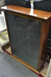 Sale 8066 - Lot 1024 - An Edwardian bench top display cabinet with glazed front and two doors to back with two internal glass shelves