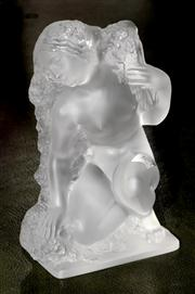 Sale 8080A - Lot 97 - A Rene Lalique figure of a kneeling maiden with flowers 'Printemps' from the four seasons.