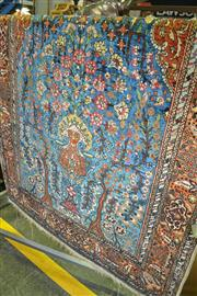 Sale 8093 - Lot 1823 - Persian Hand Knotted Fine Silk Carpet Depicting Tree of Life (I123 x 180cm)