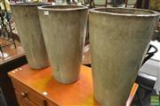 Sale 8277 - Lot 1079 - Set of Three Glazed Planters