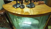 Sale 8361 - Lot 1043 - Bow Front Display Cabinet