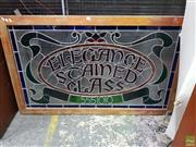 Sale 8566 - Lot 1125 - Elegance Stained Glass Leadlight Panel