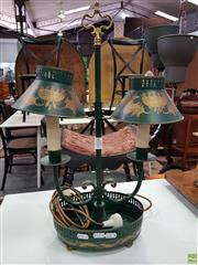 Sale 8589 - Lot 1034 - Antique Style Twin Shade Table Lamp