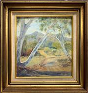 Sale 8779 - Lot 2093 - D N Brindley - Australian Bush Scene oil on board, 47 x 46cm (frame), signed lower right -