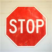 Sale 8878T - Lot 60 - Reflective Stop Sign Dimensions - 60cm x 60cm