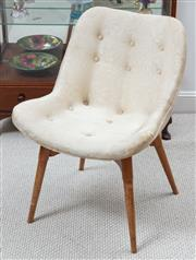 Sale 9070H - Lot 107 - A Grant Featherston chair with original cream floral upholstery, Height 77cm x Width 55cm x Depth 57cm