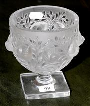 Sale 8080A - Lot 98 - A Lalique 'Elisabeth' footed bowl with birds amidst branches.