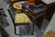 Sale 8127 - Lot 862 - Small Single Drawer Desk On Cabrioles With Chair