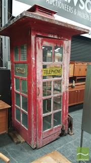 Sale 8409 - Lot 1009 - Vintage Red Telephone Box
