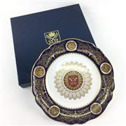 Sale 8545N - Lot 61 - Spode Handpainted Plate in Box (D: 28cm)