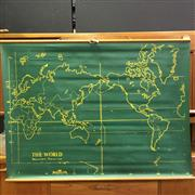 Sale 8643 - Lot 1178 - Vintage Double-Sided Mercators Projection Map of the World & Australia