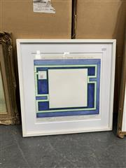 Sale 9008 - Lot 2061 - Artist Unknown Encyclopaedia of an Artwork Yet to Be watercolour 50 x 50cm (frame) signed