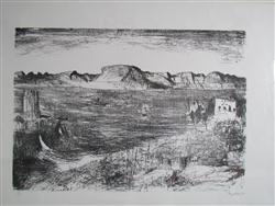 Sale 7885 - Lot 43 - Lloyd Rees, Afternoon on the Derwent  1982, lithograph, edition: 65/75, 40 x 57 cm, signed and dated lower right