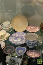 Sale 8217 - Lot 183 - Wedgwood Jasper Ware Plates, Vases & Pin Dishes