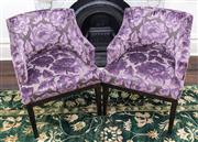Sale 8298 - Lot 29 - A Pair of Lilac Upholstered