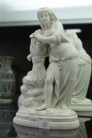 Sale 8327 - Lot 20 - Parian Ware Figure of Lady