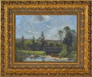 Sale 8394 - Lot 558 - Penleigh Boyd (1890 - 1923) - Untitled (Country Scene) 31.5 x 42cm