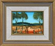 Sale 8415 - Lot 524 - Kevin Charles (Pro) Hart (1928 - 2006) - Sheep yard 13.5 x 19cm