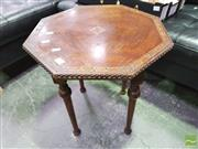 Sale 8424 - Lot 1043 - Octagonal Inlaid Top Occasional Table