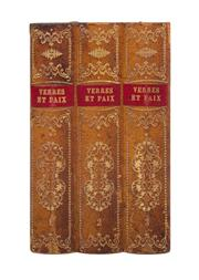 Sale 8439A - Lot 80 - A vintage French 2 bottle book stack tantalus, 22 x 13 x 14cm