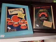 Sale 8563T - Lot 2113 - 2 Bushells Coffee Advertisement Framed Pictures
