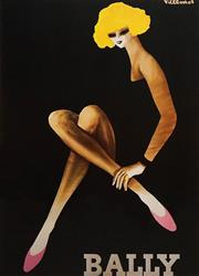 Sale 8592A - Lot 5067 - Bernard Villemot (1911 - 1989) - Bally Girl 93 x 67cm (frame size: 123 x 98cm)