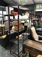 Sale 8889 - Lot 1422 - Pierre Vandal Bookshelf With Matching Coffee Table