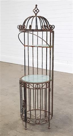 Sale 9215 - Lot 1519 - Metal cage stand (h120 x d35cm)