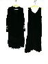 Sale 3741 - Lot 356 - Two 1920s black silk dresses