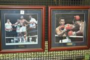 Sale 8200A - Lot 3006A - Two Framed Portraits of Muhammad Ali, one with Frazier October 1975 (2)