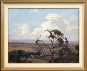 Sale 8420 - Lot 542 - Ernest Buckmaster (1897 - 1968) - View of Country 49 x 62.5cm
