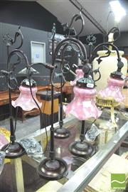 Sale 8418 - Lot 1022 - Set of 4 Tulip Lamps
