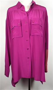 Sale 8460F - Lot 92 - A Sonia by Sonia Rykiel 100% silk two tone rose button up shirt with double breast pockets, size 40