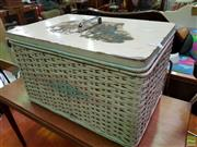Sale 8566 - Lot 1158 - Lift Top Hamper