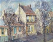 Sale 8732A - Lot 5064 - Molly Garland (1920 - ) - Glebe Street 39.5 x 49.5cm