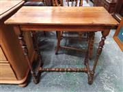 Sale 8868 - Lot 1052 - French Cherrywood Small Occasional Table, with slide & on turned legs with stretchers