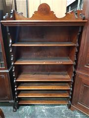 Sale 8939 - Lot 1020 - 19th Century Cedar Bookshelf, with alterations, with shaped gallery top & side panels, with fixed graduated shelves. H: 190 x W: 109...