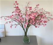 Sale 9031H - Lot 70 - Cherry Blossoms arrangement in glass vase, Total height 91 cm -