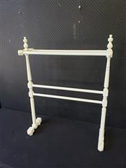 Sale 9051 - Lot 1091 - Painted Timber Towel Rail (H98cm)
