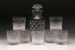 Sale 9098 - Lot 409 - Set of Seven Stuart crystal tumblers together with a crystal decanter (H25cm)