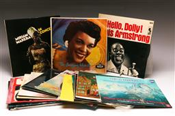 Sale 9136 - Lot 5 - A collection of mostly jazz LP records including Miriam Makeba And Louis Armstrong
