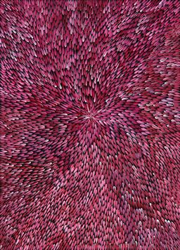 Sale 9216A - Lot 5018 - CHERYL GIBSON Bush Medicine acrylic on canvas 130 x 94 cm (stretched and ready to hang) signed verso; certificate of authenticity in...