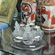 Sale 8351 - Lot 48 - Edwardian Silver Plated & Glass Cruet Set