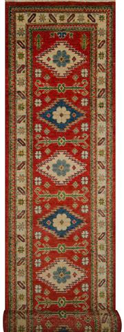 Sale 8406C - Lot 39 - Afghan Kazak Runner 390cm x 80cm