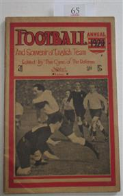 Sale 8404S - Lot 65 - Football Annual 1920 and Souvenir of English Team, edited by Cynic of the Referee, 92 pages with Rugby League, particularly Sydney R...