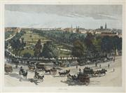 Sale 8475 - Lot 593 - Julian Rossi Ashton (1851 - 1942) (2 works) - Hyde Park & King Street, Sydney 17.5 x 27.5cm; 29.5 x 23.5cm