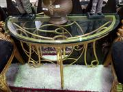 Sale 8580 - Lot 1032 - Gold Painted Console with Mirror (76 x 106 x 46.5cm)