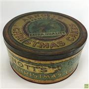 Sale 8643 - Lot 1018 - Arnotts Famous Extra Quality Christmas Cakes Tin (1920s)