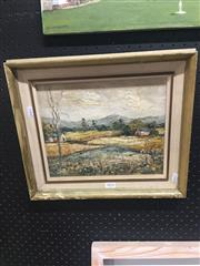 Sale 8707 - Lot 2052 - Roberta Breillat - Country Landscape oil on board, 35 x 40cm (frame), signed lower left